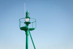 Lumière de mer de balise de port Photos libres de droits