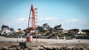 Lumière de mer de balise de port Images stock