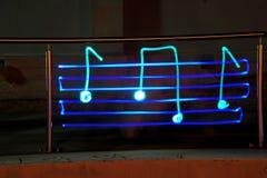Lumière de musique Photos libres de droits