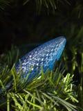Lumière de Noël bleue Photos libres de droits