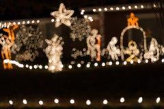 Lumière de Noël de fond de tache floue images libres de droits