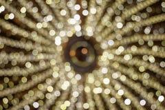 Lumière de Noël hors focale photo stock