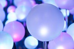 Lumière de Noël rougeoyante colorée Photos stock