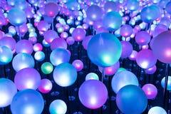 Lumière de Noël rougeoyante colorée Images stock