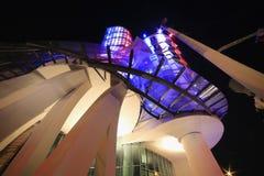 Lumière de nuit à Prague, maison de danse Images stock