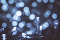 Lumière de nuit de Bokeh avec la petite lumière de LED pour les lumières décoratives dans les festivals image stock