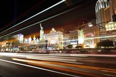 Lumière de nuit de Las Vegas images libres de droits