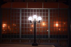 Lumière de nuit de ville Photo libre de droits
