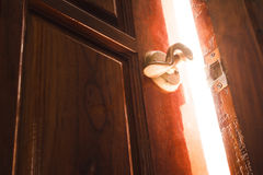 Lumière de porte ouverte Photographie stock libre de droits