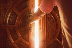 Lumière de porte ouverte Photo libre de droits