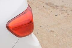 Lumière de queue de voiture Photographie stock libre de droits