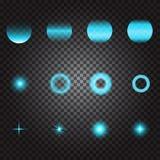 Lumière de scintillement de scintillement flashes et étincelles légers bleus sur le tran illustration libre de droits