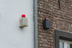 Lumière de secours, signal lumineux d'un système d'alarme Photographie stock