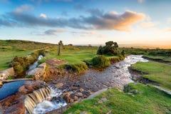 Lumière de soirée chez Windy Post sur Dartmoor images stock