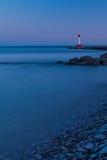 Lumière de soirée de phare d'Oakville Photos stock