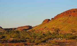 Lumière de soirée sur les roches rouges, Australie du sud photographie stock
