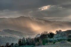Lumière de soirée sur un horizontal italien Photographie stock