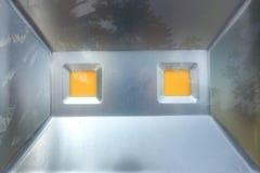 Lumière de sport sur le plancher de ciment Photographie stock libre de droits
