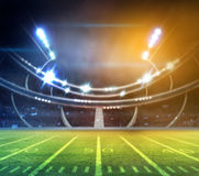Lumière de stade Photographie stock libre de droits