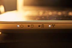 Lumière de statut d'ordinateur Photographie stock