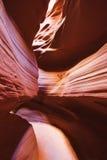 Lumière de Sun par le canyon supérieur d'antilope Images stock