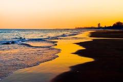 Lumière de Sun sur la plage Images libres de droits