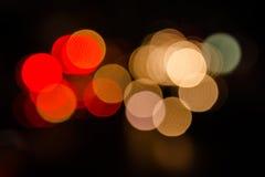 Lumière de tache floue de Noël Images libres de droits