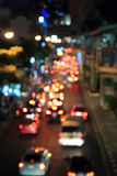Lumière de tache floue de voiture du trafic Image libre de droits