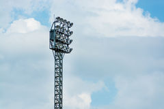 Lumière de terrain de football Photographie stock libre de droits