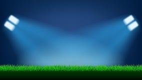 Lumière de terrain de football Photo stock