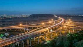 Lumière de transport de Taïwan en heure de pointe photos libres de droits