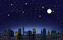 Lumière de ville de nuit Photographie stock