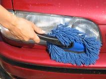 Lumière de voiture de nettoyage Photo libre de droits