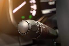 Lumière de voiture et commutateur de signal images stock