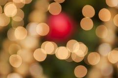 Lumière Defocused de décoration de Noël Photo libre de droits