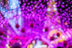 Lumière Defocused de festival, bokeh rose abstrait Photo libre de droits