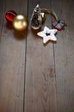Lumière des étoiles de Noel Photos stock
