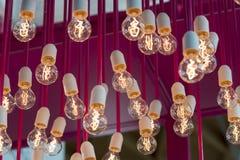 Lumière des ampoules incandescentes Image libre de droits