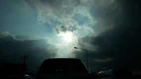 Lumière du soleil à la terre Photo stock