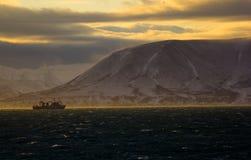 Lumière du soleil au bord de la terre Photo stock