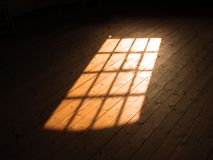 Lumière du soleil d'hublot Image libre de droits