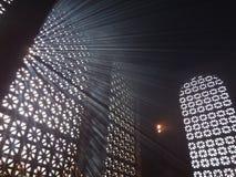 Lumière du soleil dans la fumée de bougie Images stock