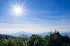 Lumière du soleil dans le nord de la Thaïlande photo libre de droits