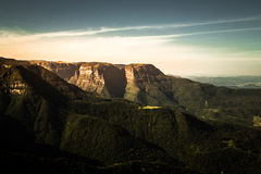 Lumière du soleil de canyon Photos stock