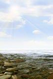 lumière du soleil de mer de plage Image libre de droits