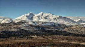 Lumière du soleil de montagne Photo stock