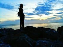 Lumière du soleil de vent de l'eau Images libres de droits