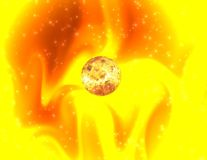 Lumière du soleil mystique illustration de vecteur