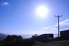 Lumière du soleil du nord lumineuse du Pays de Galles image libre de droits