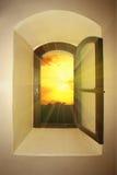 Lumière du soleil par l'hublot Photos libres de droits